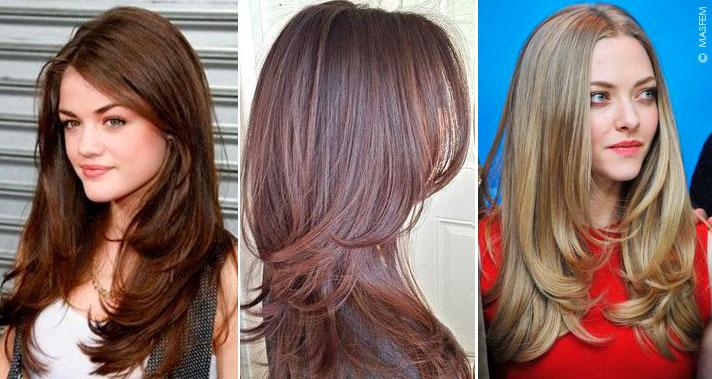 Стрижка лесенка на средние и длинные волосы